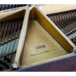 Numer seryjny na ramie żeliwnej fortepianu