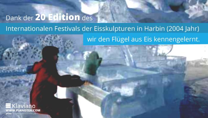 Dank der 20 Edition des Internationalen Festivals der Eisskulpturen in Harbin (2004 Jahr) haben wir den Flügel aus Eis kennengelernt.